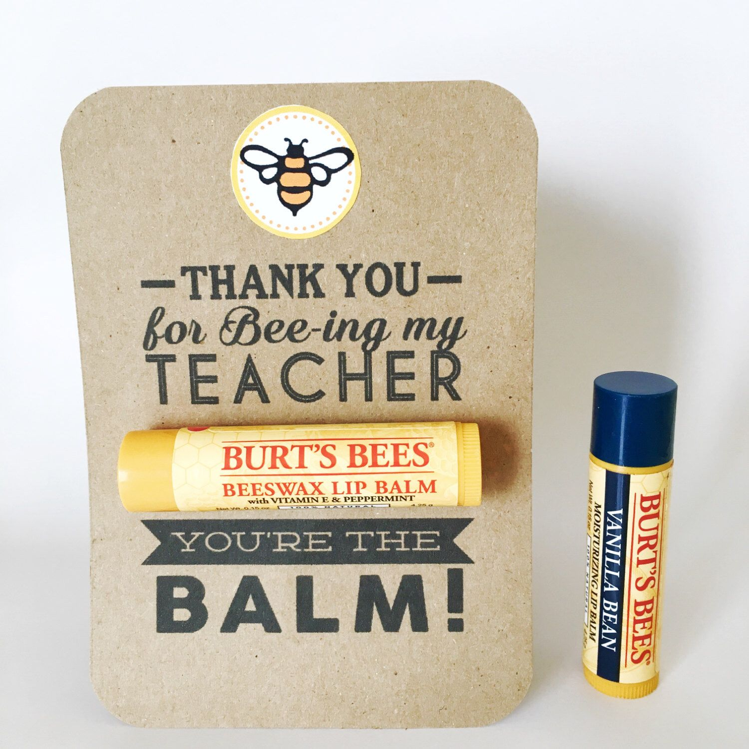 Teacher Appreciation Gift Youre The Balm Chapstick Thank You Cards