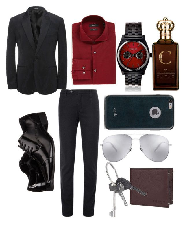 """""""classy gentelman"""" by woah-candace on Polyvore featuring Massimo Alba, Alexander McQueen, BOSS Hugo Boss, Calvin Klein, Nixon, Ted Baker, Moshi, Clive Christian, Yves Saint Laurent and Givenchy"""