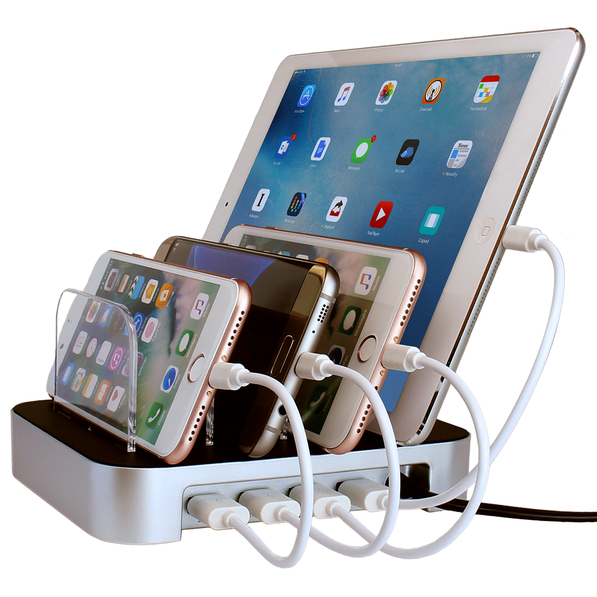 One Charger For All Of Your Cell Phones And Tablets Top Rated Usb Charging Station Organizer To Quickly Safely Charge Electronic Devices
