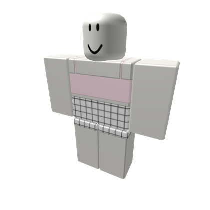 7 Pink Aesthetic Top With Grid Pants Roblox Pink