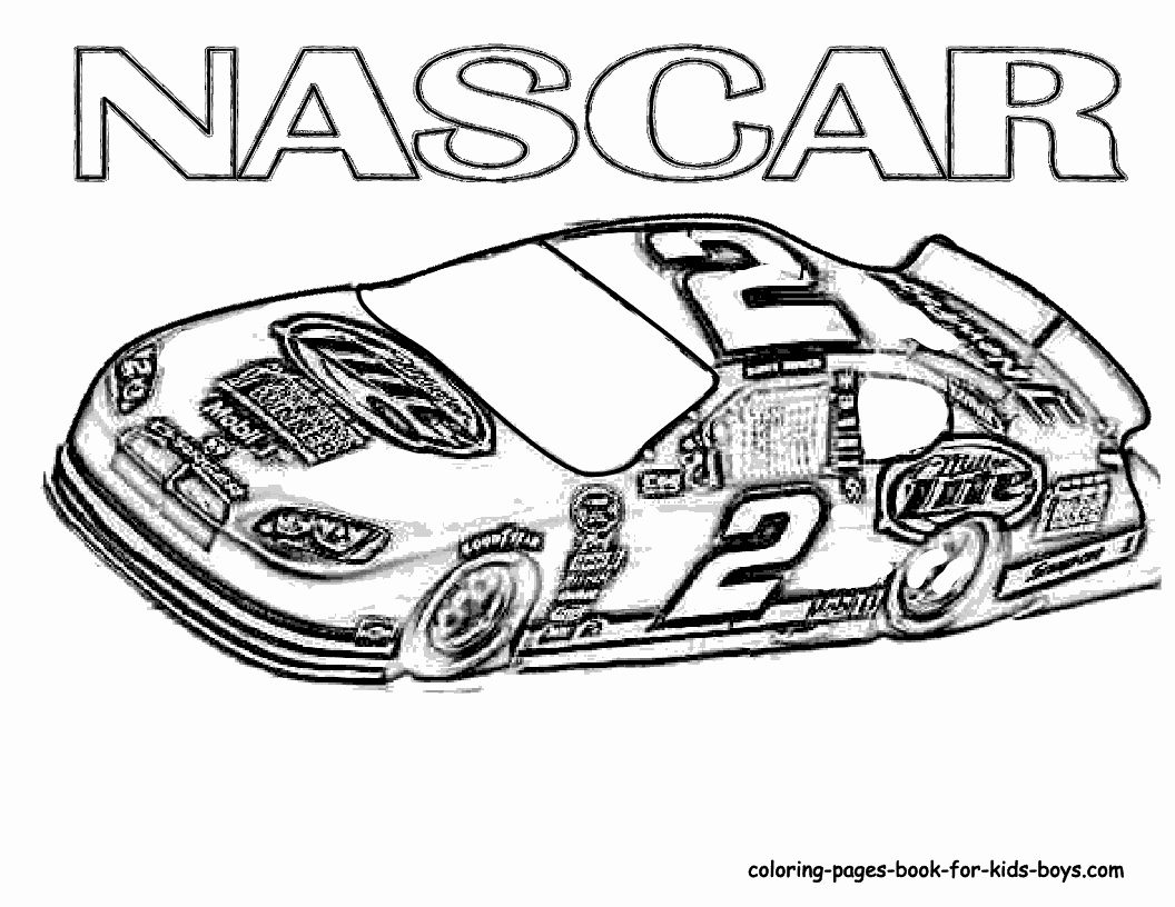 Printable Race Cars Coloring Pages Awesome Race Car Coloring Pages Free Coloring Home Nascar