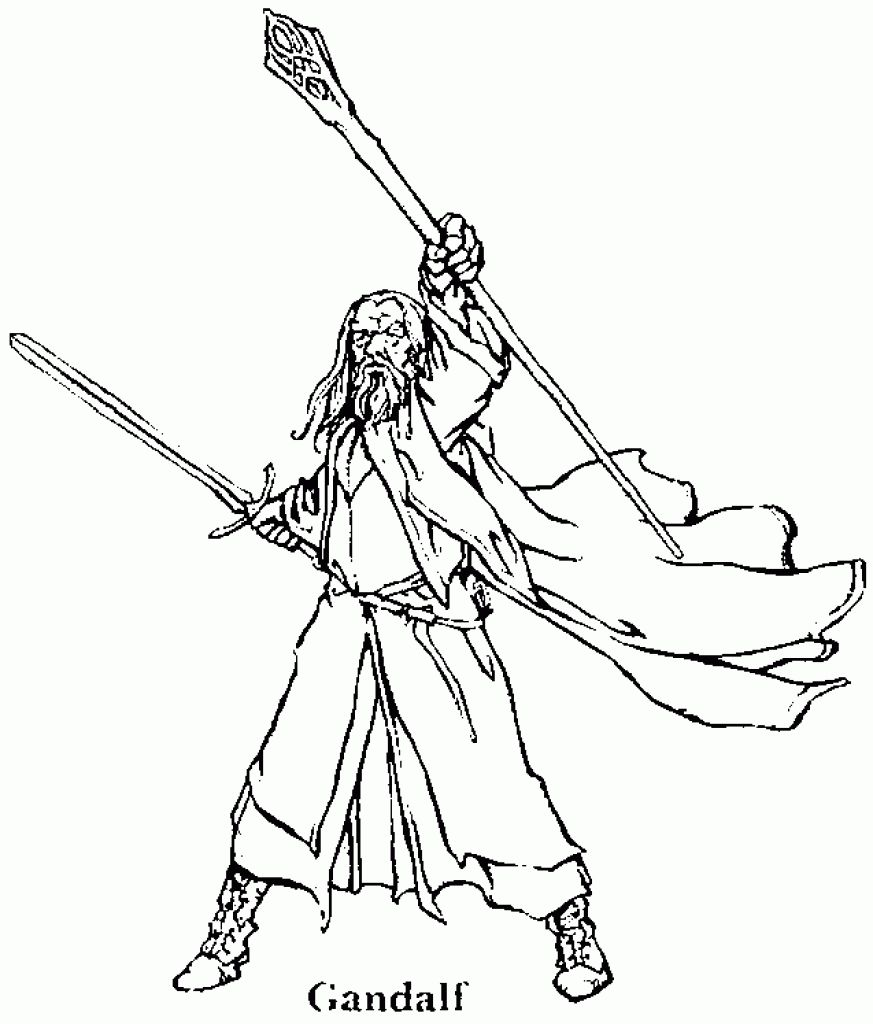 Gandalf From The Hobbit Coloring Page Letscolorit Com Coloring Pages Cool Coloring Pages Lord Of The Rings