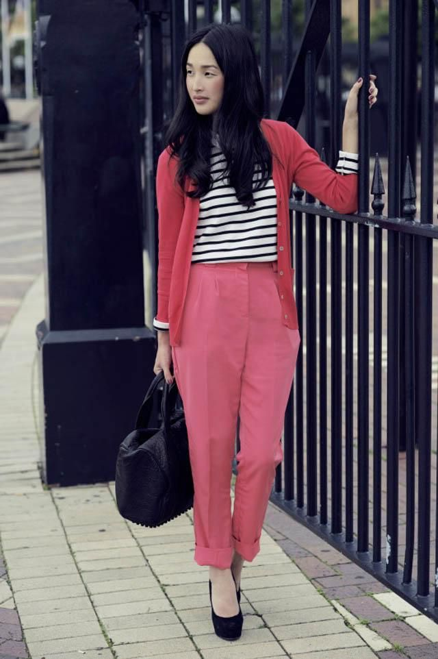 Pink & Stripe. I love the combination