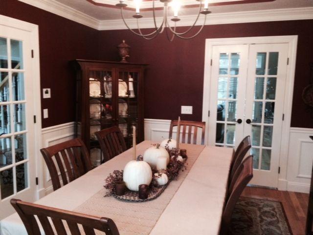 Painted This Week Benjamin Moore Raisin Torte A Bit Dark But Really Pretty Living Room Interior New Homes Interior #pretty #living #room #colors