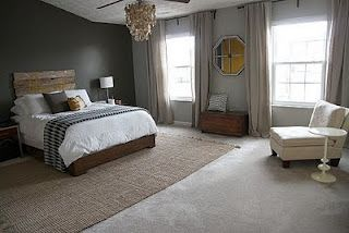 Large Rugs Under Beds To Cover Most Of The Carpet Both To Improve