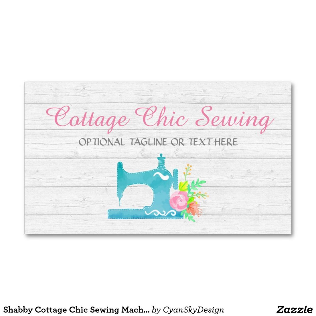 Shabby cottage chic sewing machine rustic wood business card shabby cottage chic sewing machine rustic wood business card reheart Image collections