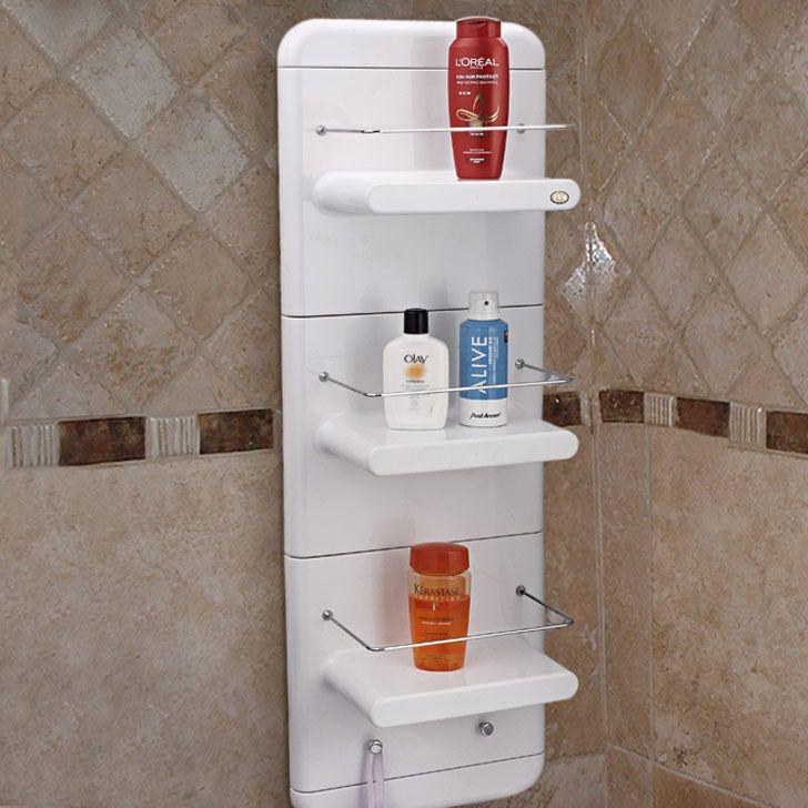 Upasana Works Bath Shower 3 Shelf Unit White Online In India Fabfurnish