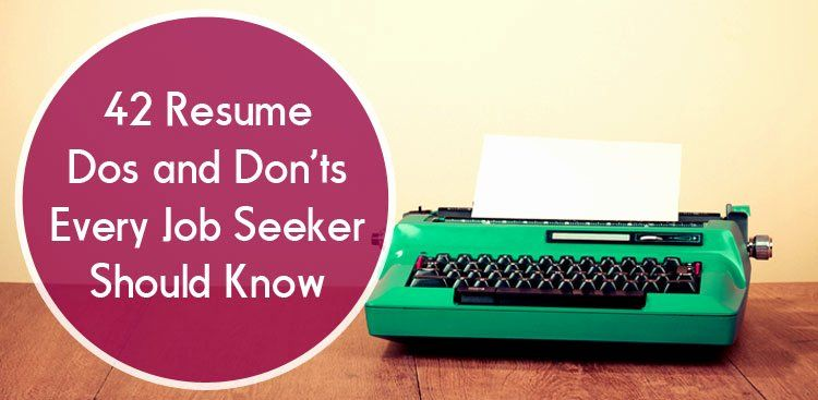 20 dos and don ts resume job seeker cover letter for