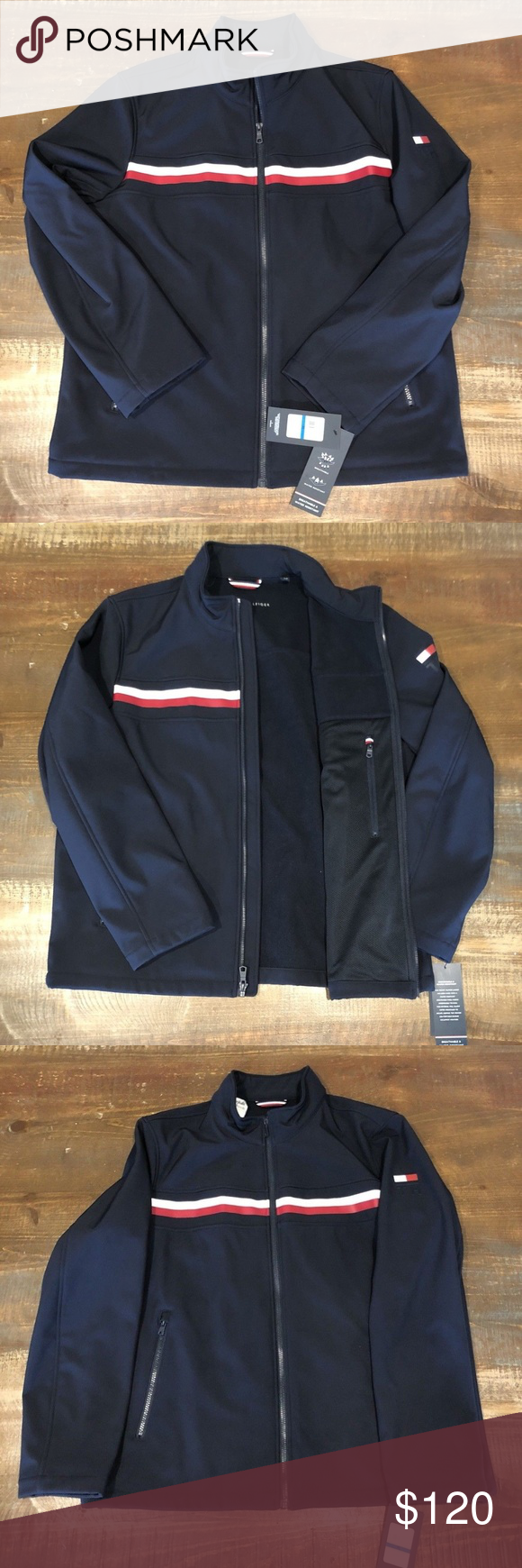 4defc3028c71ac New Tommy Hilfiger Mens Yacht Jacket New Tommy Hilfiger Mens Yacht Jacket  Navy Windbreaker Water Resistant Size XL New With Tags Pit to pit 25 1 2  Length 27 ...