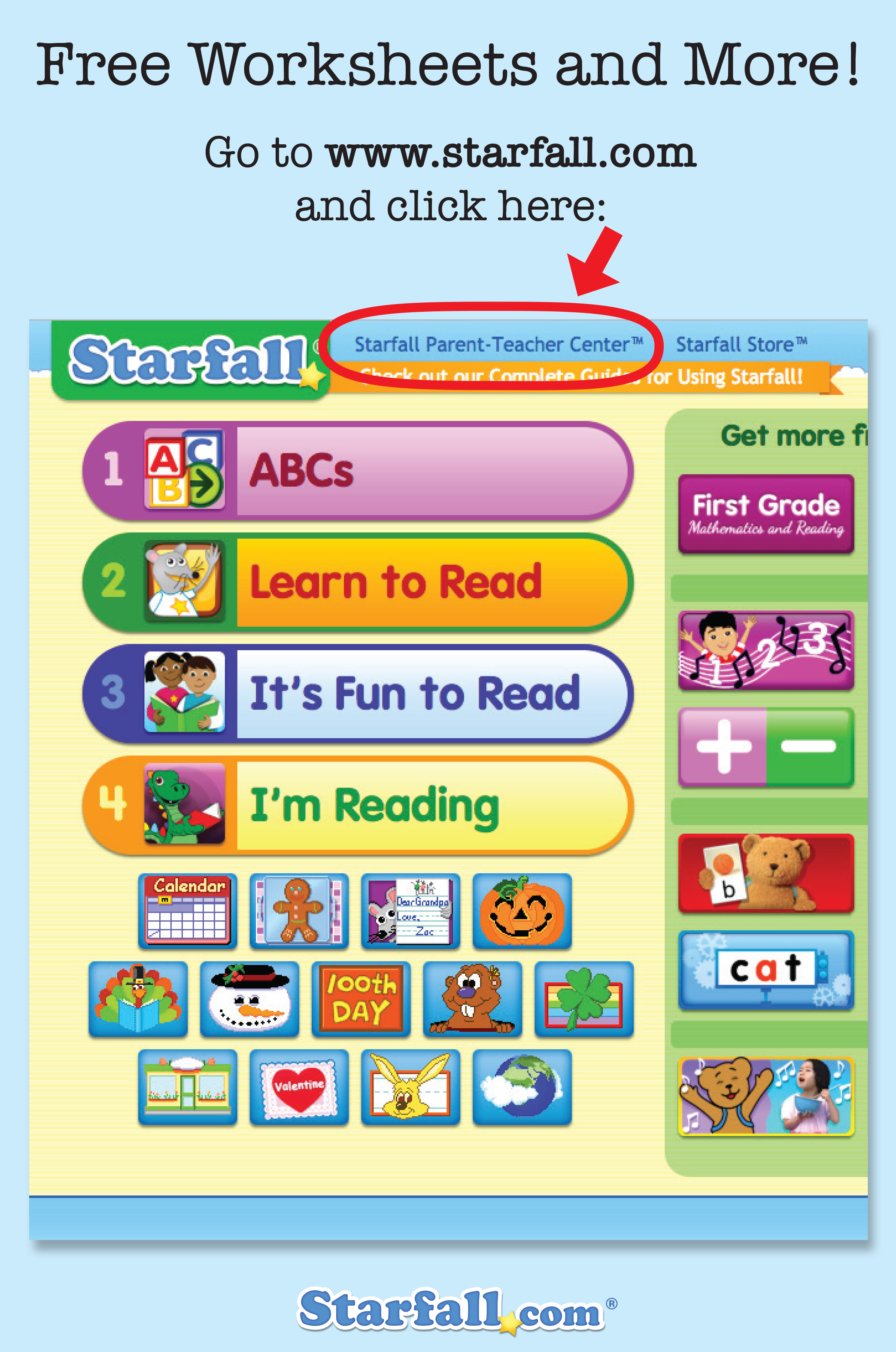 Did You Know That Starfall S Parent Teacher Center Is
