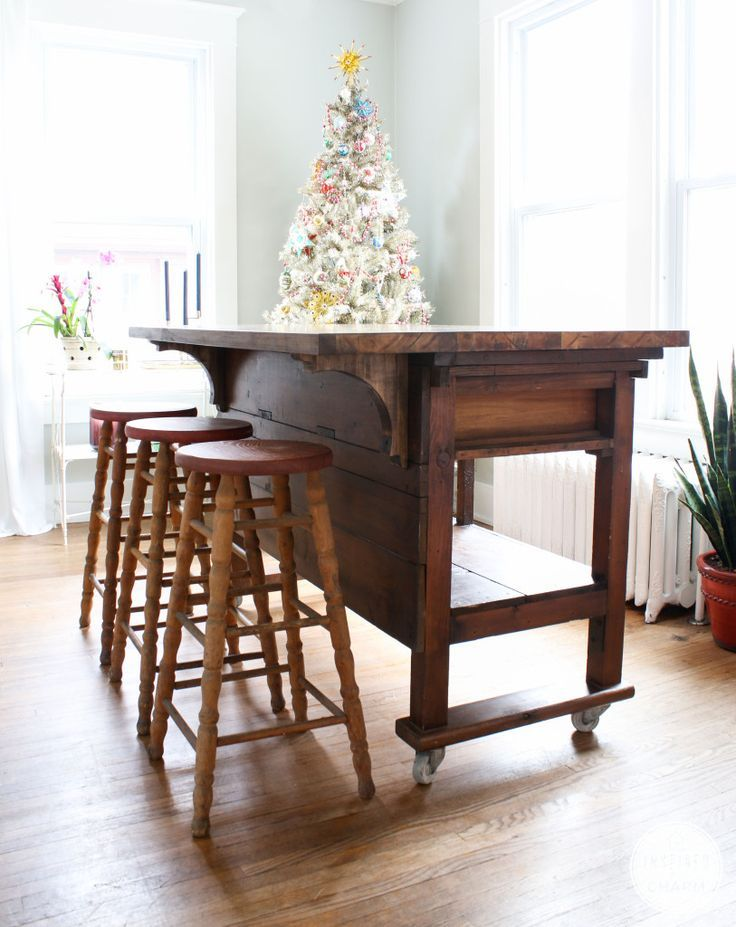 Awesome Diy Butcher Block Kitchen Island With Seating DIY Wooden Furniture Kitchen island ...