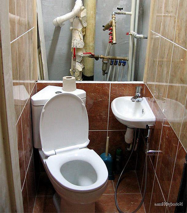 Ремонт туалета кафелем своими руками фото