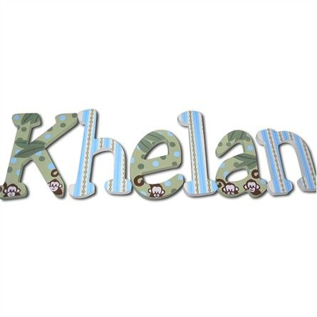 @rosenberryrooms is offering $20 OFF your purchase! Share the news and save!  Khelan Monkeys Hand Painted Wall Letters #rosenberryrooms