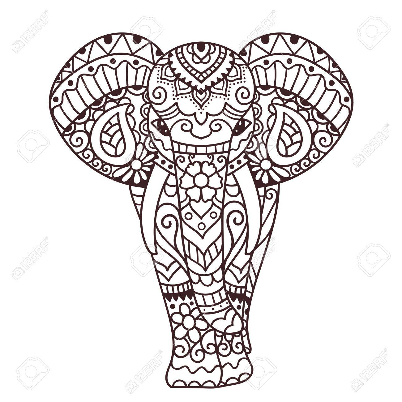 Stock Photo Zeichnen Elefant Malen Elefant Zeichnung