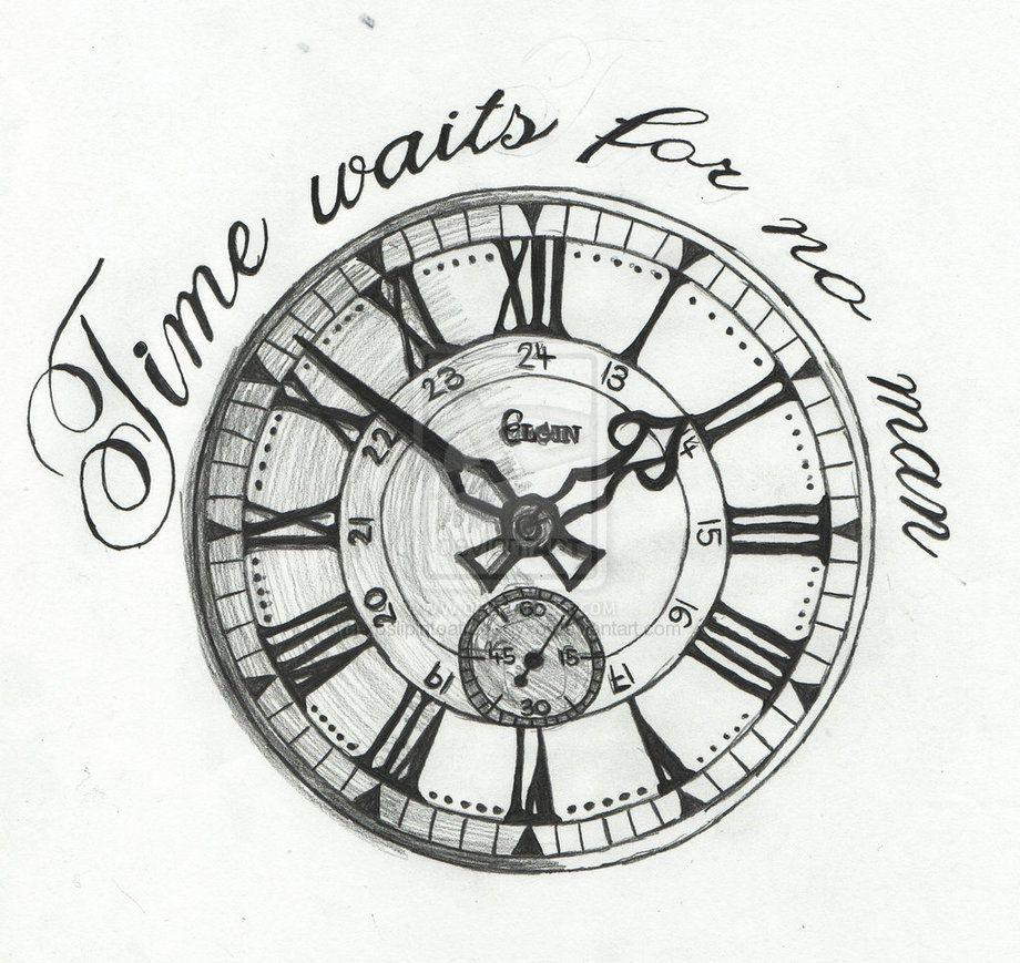 Time Waits For No Man By Xoslipintoatragedyxo D3jkikk Jpg 920 869 New Tattoo Designs Half Sleeve Tattoo Tattoo Sleeve Designs