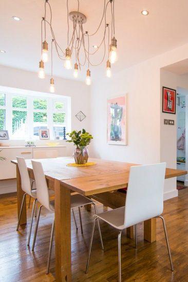 der starkey kronleuchter ber dem esstisch von made kundin sarah made unboxed zu tisch. Black Bedroom Furniture Sets. Home Design Ideas