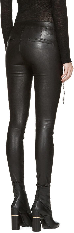 Helmut Lang - Black Leather Pants