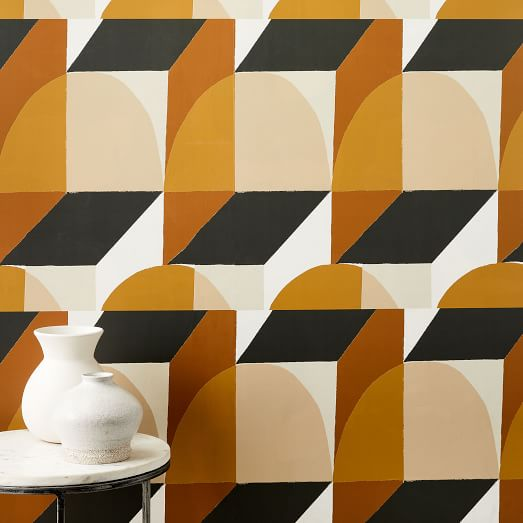 Labyrinth Wallpaper in 2020 Geo wallpaper, Mid century