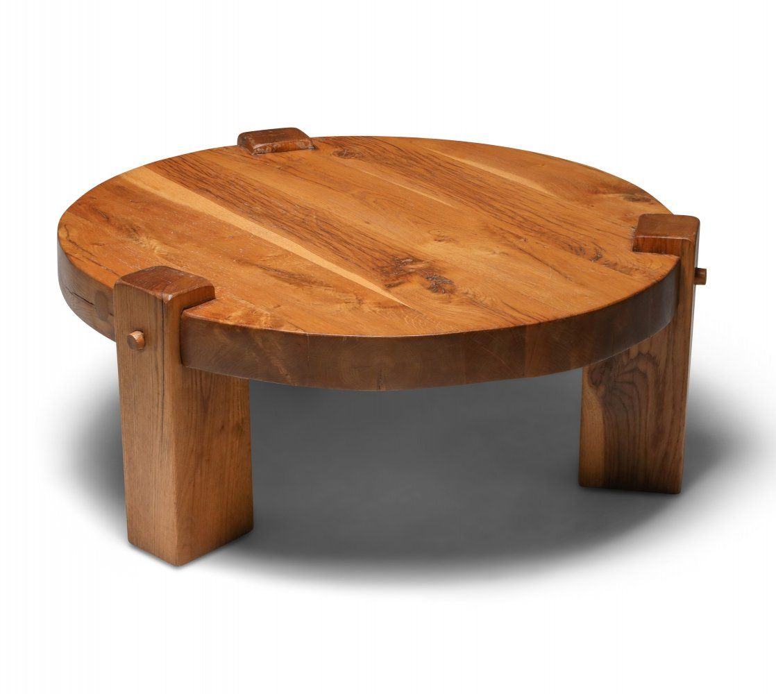 For Sale Rustic Modern Coffee Table In Solid Oak 1960 S Coffee Table Round Wood Table Modern Coffee Tables [ 1000 x 1118 Pixel ]