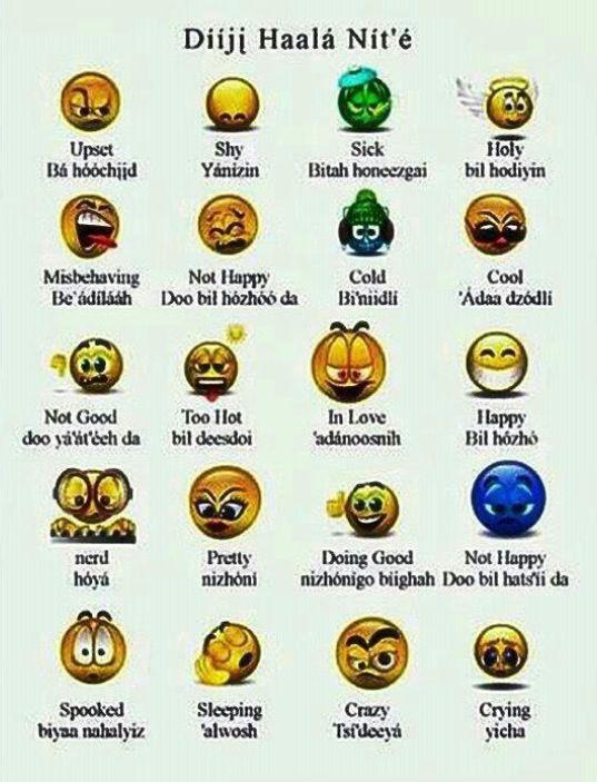 Navajo Chart -- How are you feeling today Americau0027s Many - feeling chart