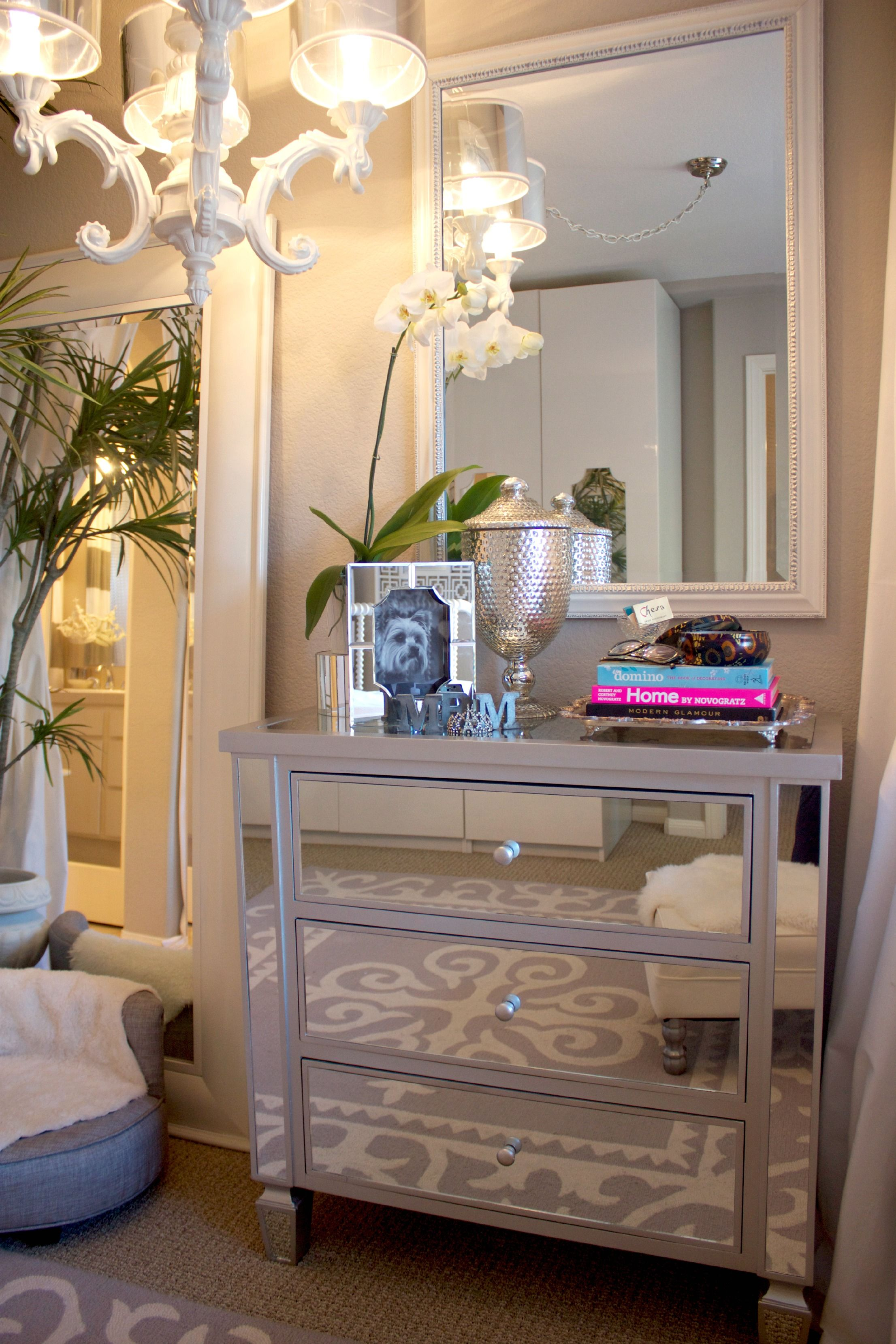 Stylish Mirrored Nightstand Target For Modern Bedroom ...