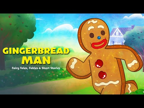 (3) Gingerbread Man & Pinocchio Fairy Tales For Kids