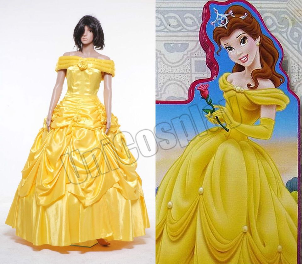 Click to buy ucuc beauty and the beast belle dress cosplay costume