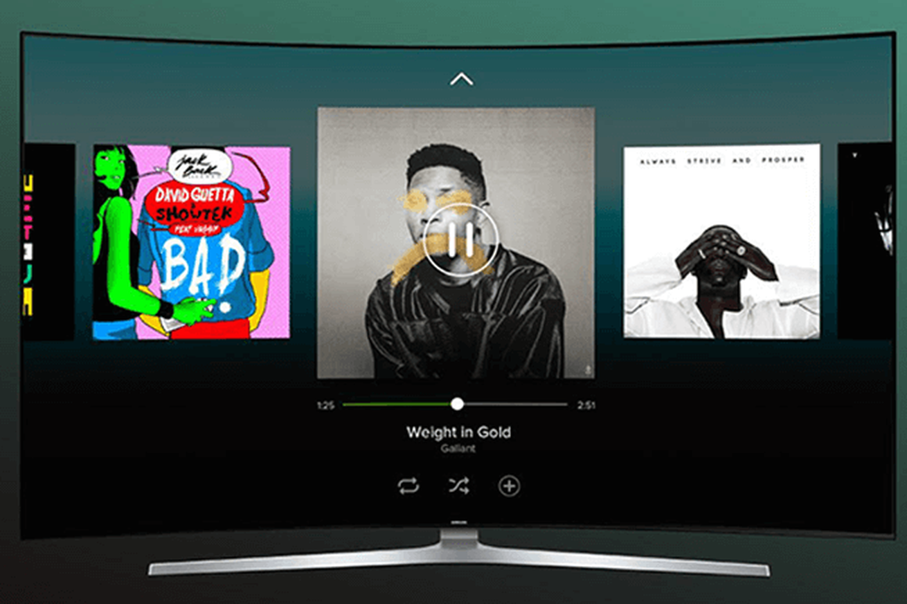 Spotify launches new Samsung smart TV app for free users