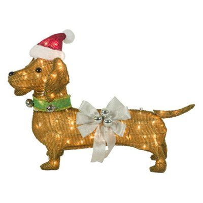 Holiday Living 30 In Tinsel Christmas Sausage Dog Outdoor