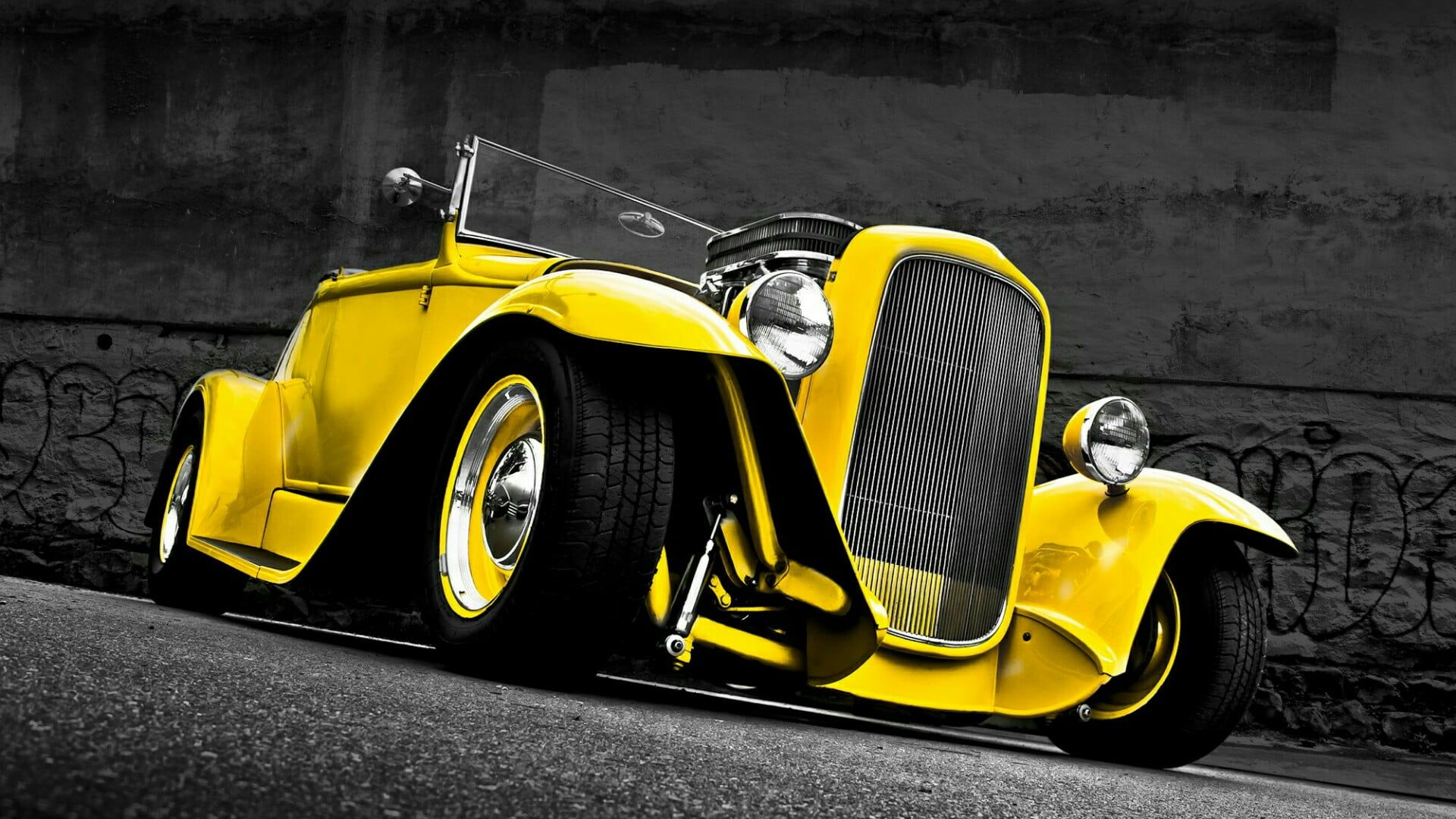 #ford #custom #car motor vehicle #yellow #vehicle classic car retro car vintage …