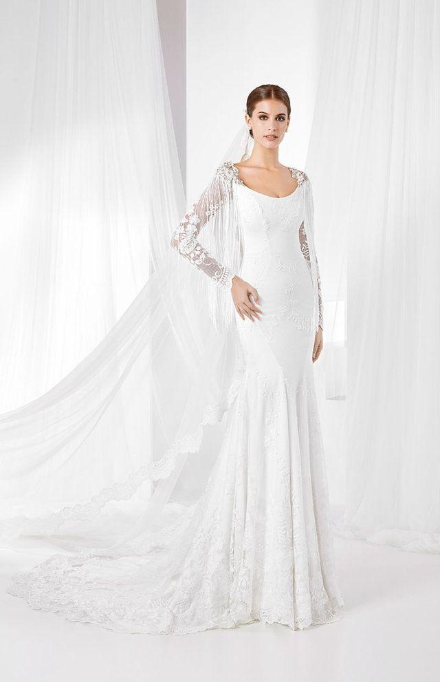 6db1356b1 Vestido de Novia Cuerpo Bordado - Franc Sarabia - Descubre la Colección 2019