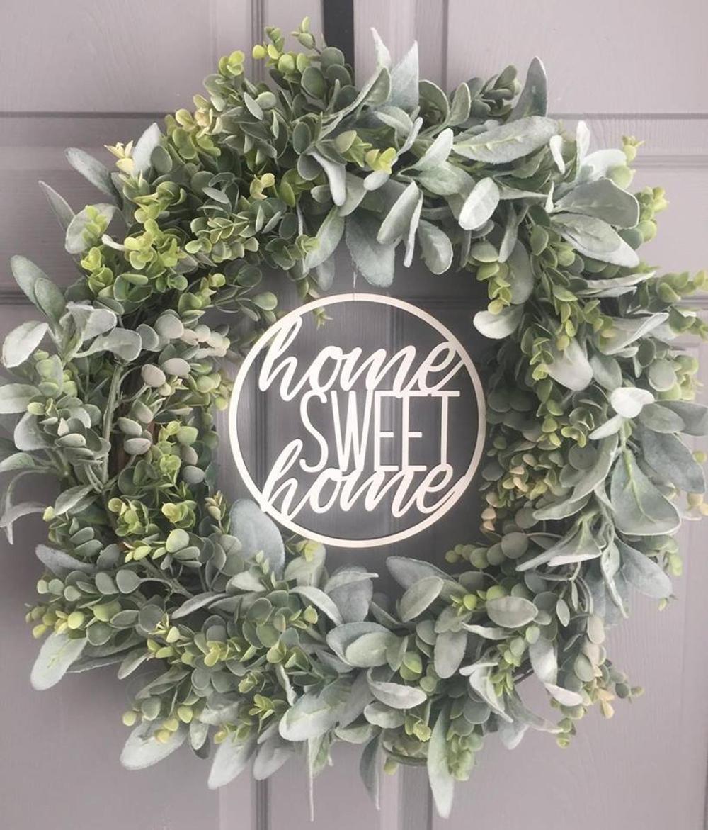 Photo of Wreath for Front Door – Front Door Wreath – Year Round Wreath – Home Sweet Home Wreath – Farmhouse Wreath – Eucalyptus Wreath – Wreaths