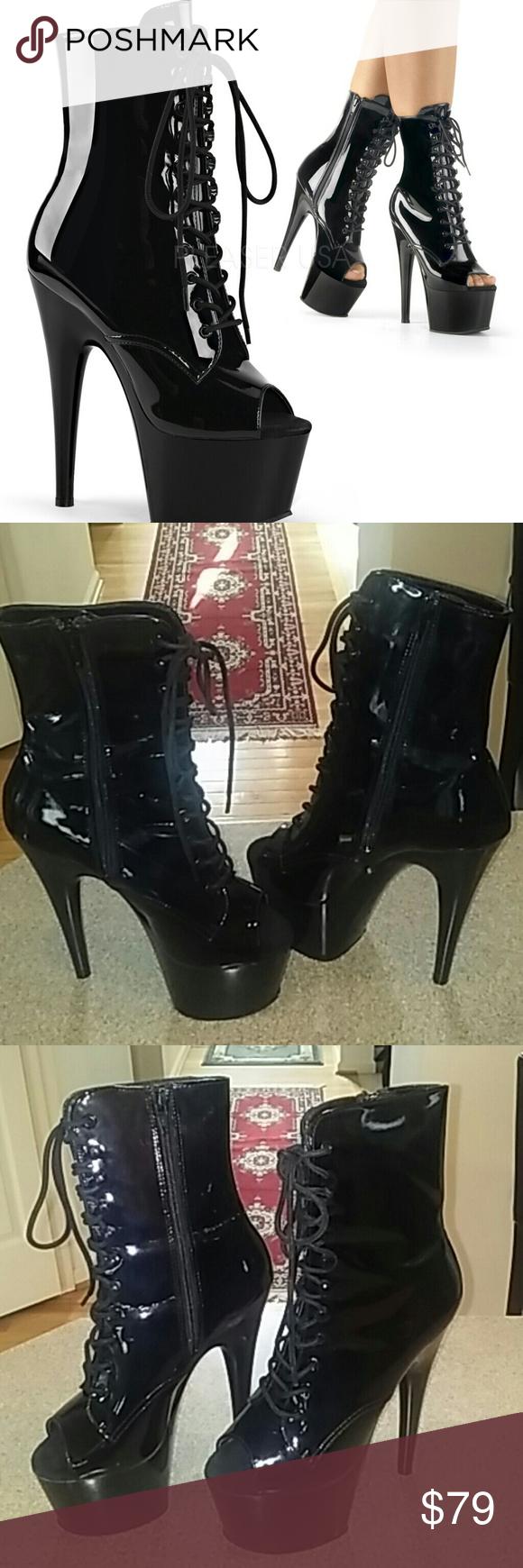 a2e9377f85921 Pleaser Adore-1021 Stiletto platform boots 🔥 🔥 🔥Heel Height: Approx. 7