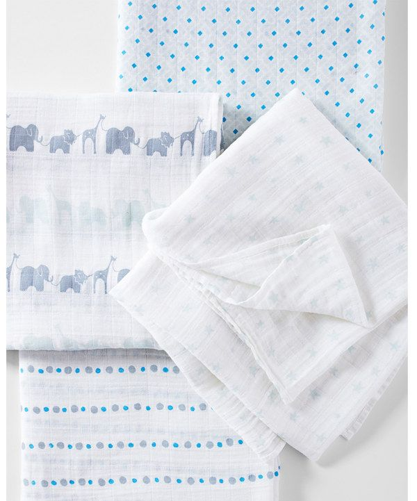 Aden And Anais Swaddle Blankets Gorgeous Look At This Serena & Lily Blue Aden  Anais® Swaddle Blanket  Set Design Inspiration