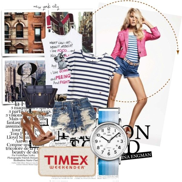 Amazing spring with TIMEX, created by viksunny on Polyvore