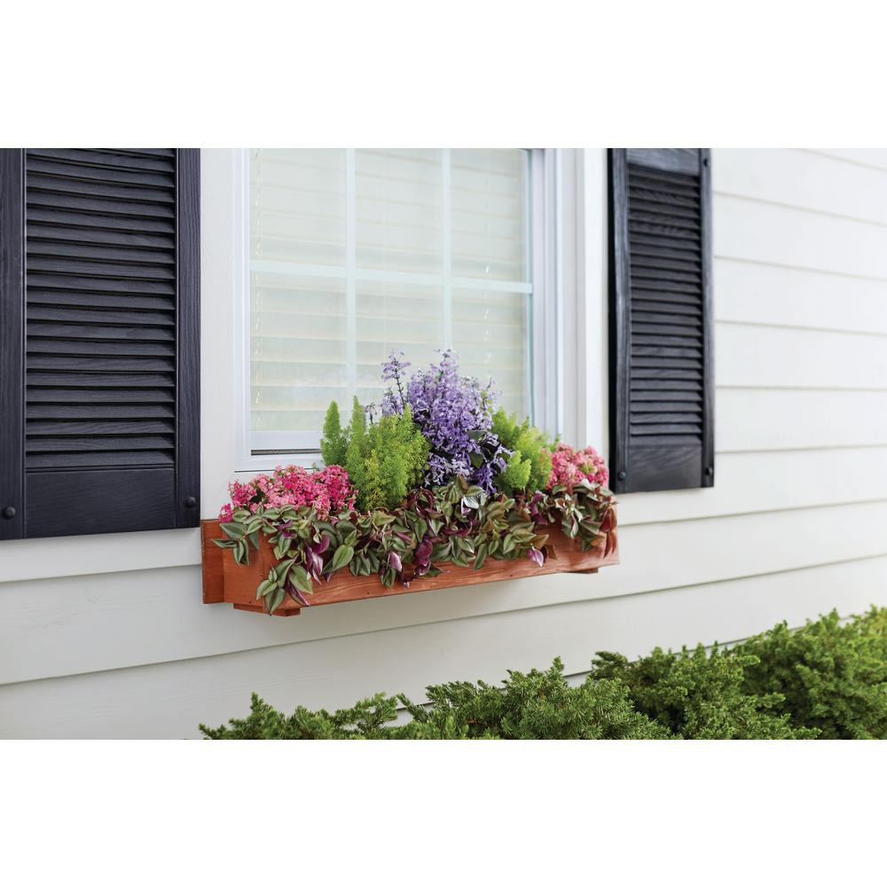 36 in. x 7 in. Wood Window Box515464 The Home Depot in