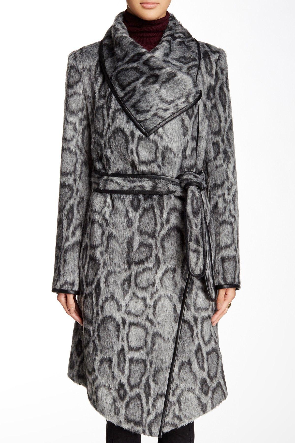 3e74e3918b9d43 Leopard Wrap Coat by Diane von Furstenberg on  nordstrom rack