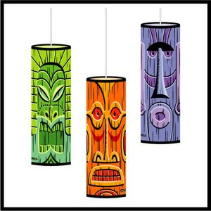 Love these tiki pendant lamps from SHAG
