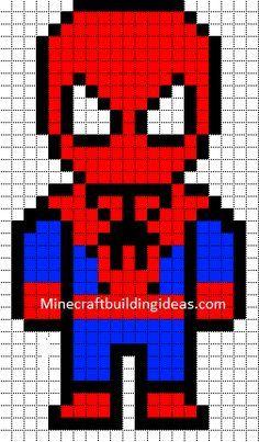 Spiderman Niveau Moyen Pixel Art à Imprimer Coloriage