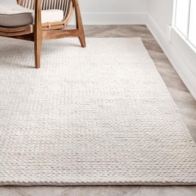 Nuloom Caryatid Chunky Woolen Cable Off White 8 Ft X 10 Ft Area Rug Cb01 8010 The Home Depot Rugs In Living Room Rugs On Carpet Area Room Rugs