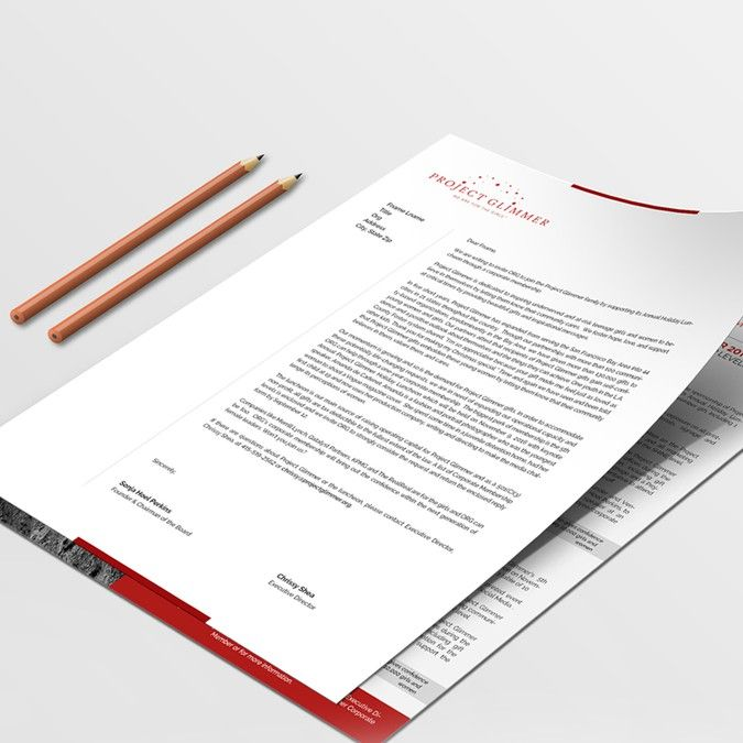 Design A Fundraising Letter for Project Glimmer! by Trnvt Business