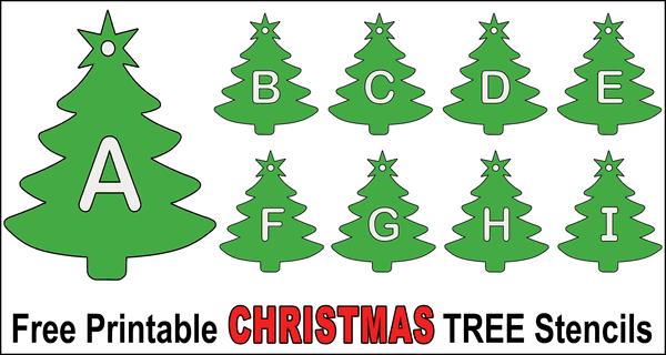 Christmas Tree Stencils Printable Alphabet Patterns And Designs Christmas Tree Stencil Tree Stencil Christmas Tree Images