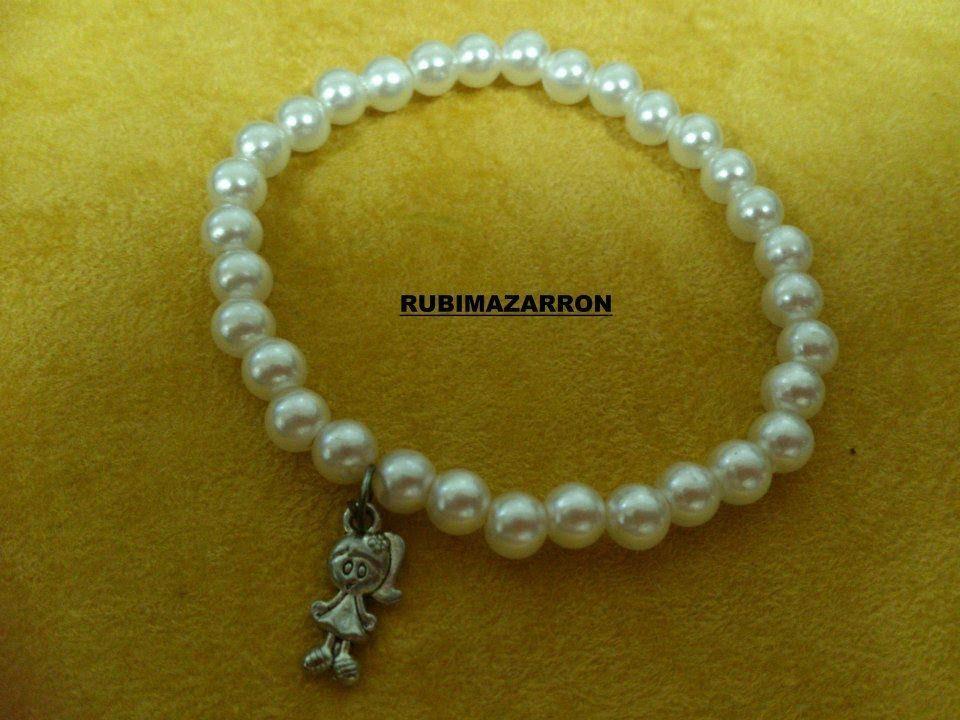 diy como hacer pulsera brazalete elastica con perlas