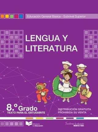 Lengua y literatura 8  LIBROS  Libro de lenguaje Lengua