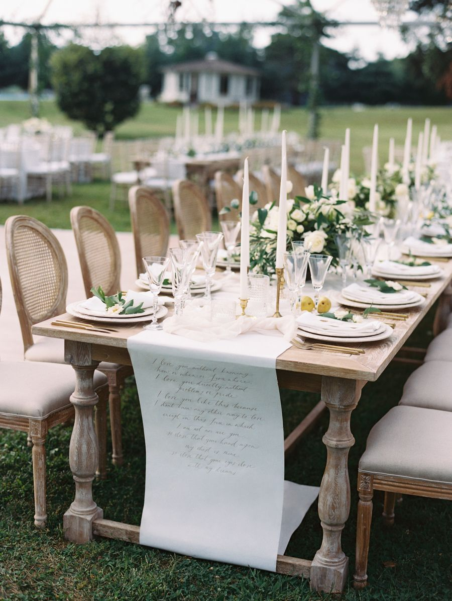 Reception Décor Photos - Long Head Table Under Canopy ...  |Outdoor Wedding Reception Head Table