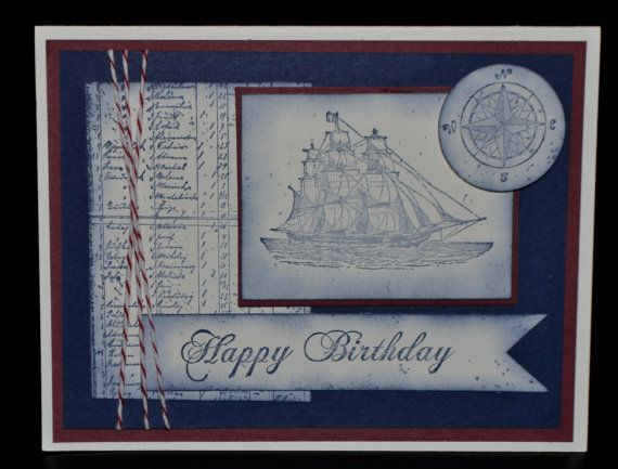 Stampin Up Homemade Card Masculine Birthday by LizzyJaneBoutique, $4.00