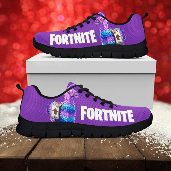 86ad4c774bb3 Fortnite Llama Custom Black Sole Running Shoes Sneakers Trainers - Womens