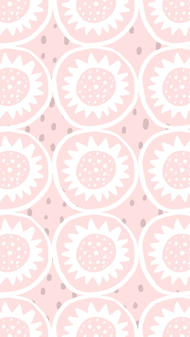 Pastel blush pink illustrated daisies iphone phone background lock screen wallpaper