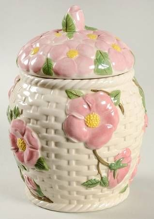 Franciscan Desert Rose (China) Cookie Jar and Lid