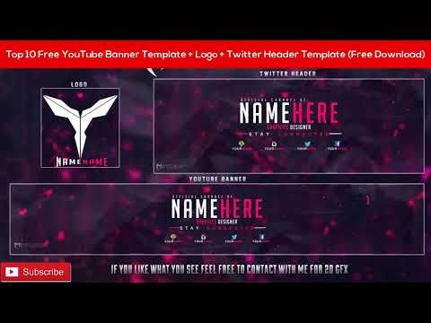 Top 10 Free Youtube Banner Template Logo Twitter Header Template
